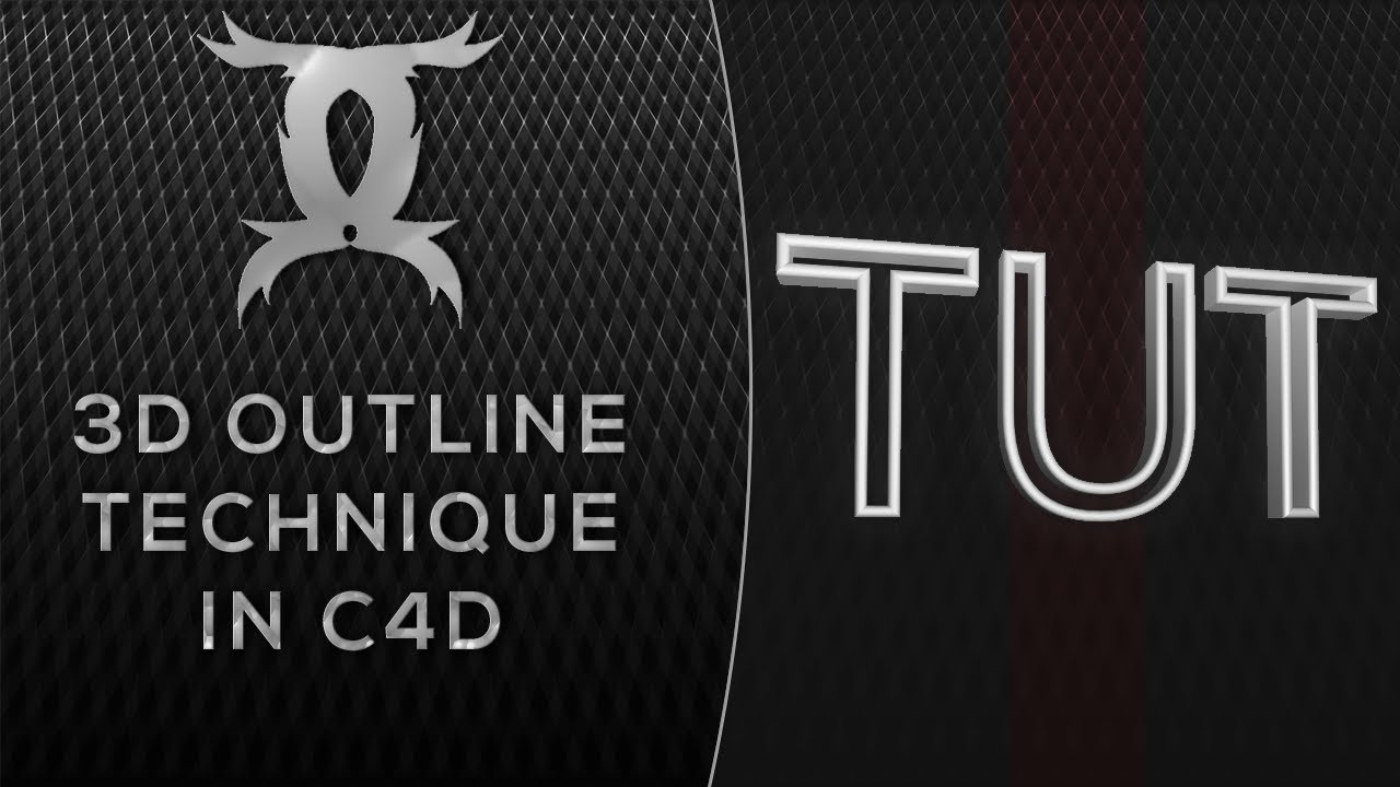 Tutorial: 3D Text Outline Technique [Giveaway at 150 likes!]