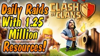 Clash of Clans : Awesome Daily Raid Video w/ 1.25 Million Resources!