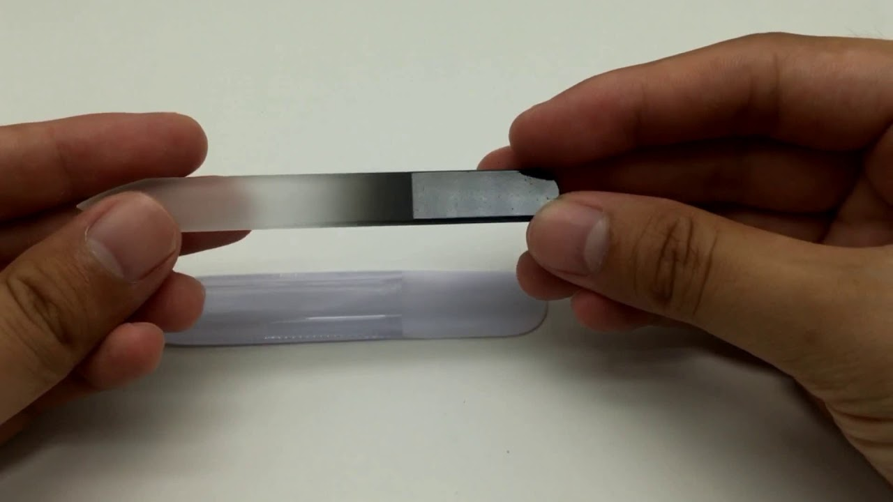 Etched Sanding Glass Nail File - YouTube