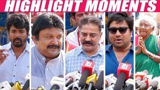 Kamal Vijay Ramarajan Rajkiran & All Kollywood Celebrities Nadigar Sangam Elections
