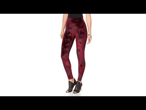 DG2 by Diane Gilman Comfort Waist Printed Velvet Legging