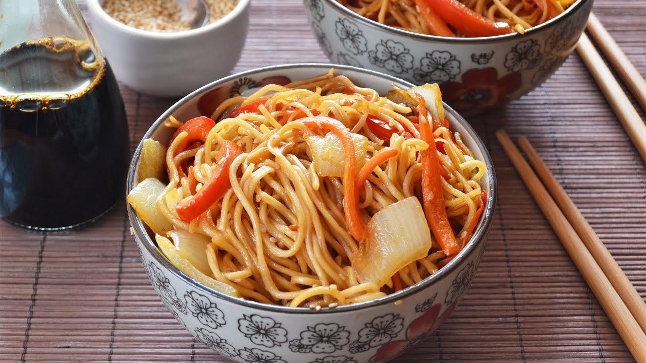 Fideos chinos con verduras recetas de cocina oriental - Comodas orientales ...