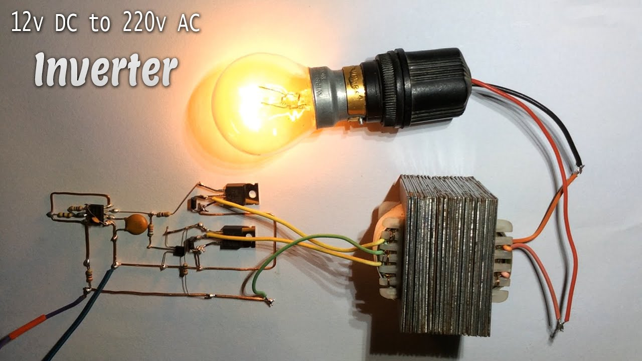 12v Dc To 220v Ac 50hz Inverter  Easy Real Diagram