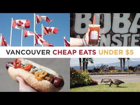 5 Vancouver Cheap Eats under $5