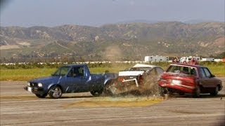 Three-Way Rear End Collision | Top Gear USA