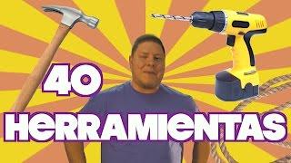 Nombres de 40 HERRAMIENTAS en Inglés!!