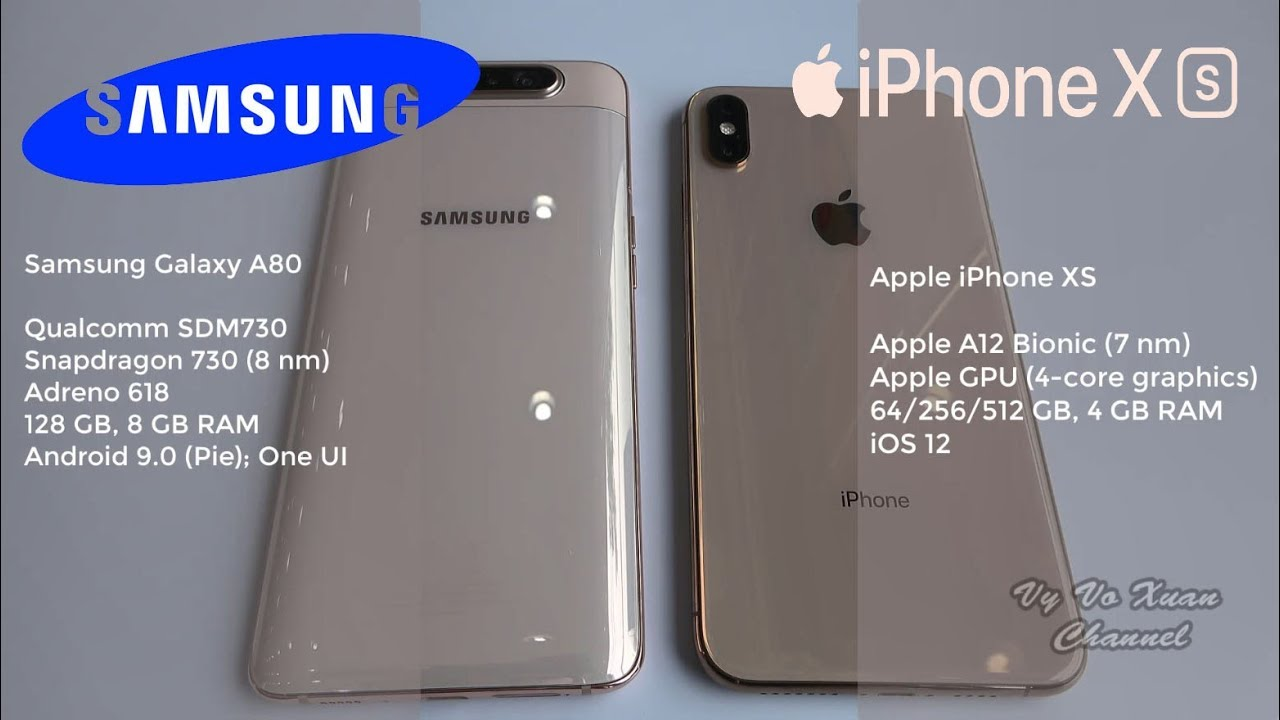 Samsung Galaxy A80 vs Apple iPhone XS