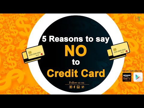 """5 Reasons to say  """"No"""" to Credit Card by Financial Coach"""