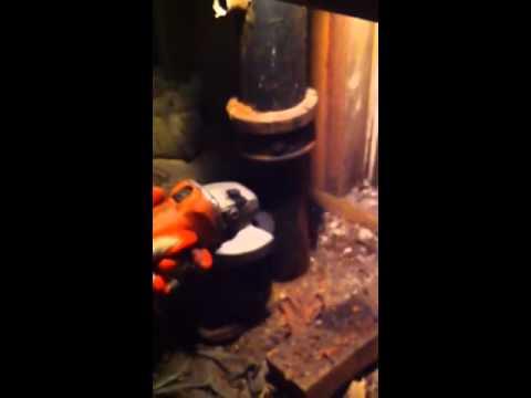 Cast Iron soil pipe cutting