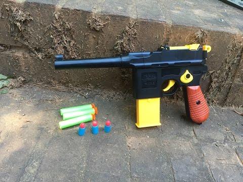 "Review: ""Nazi"" Nerf Gun, The Mauser C96 Toy Replica."