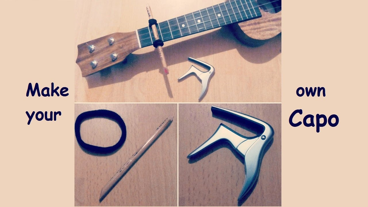 how to make your own capo ukulele diy tutorial youtube. Black Bedroom Furniture Sets. Home Design Ideas