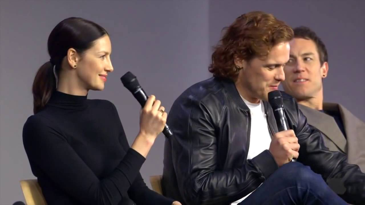 Outlander Cast Interview with Caitriona Balfe, Sam Heughan ...