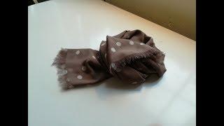 Dans cette vidéo, je vous présente un tuto facile, une écharpe en soie idéale pour le printemps et l'été;mesures, 180x60 cm.