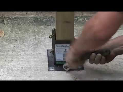 How To Install 4×4 Post On Concrete Slab