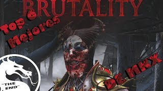 "Top 6 Mejores Brutalities De MKX |""The End"""