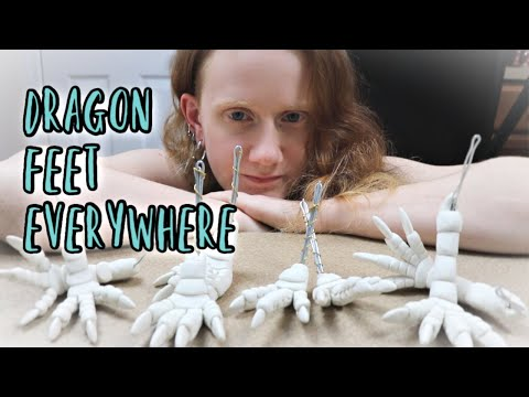 MAKING A LOT OF CLAY DRAGON PIECES || Artist Vlog 23