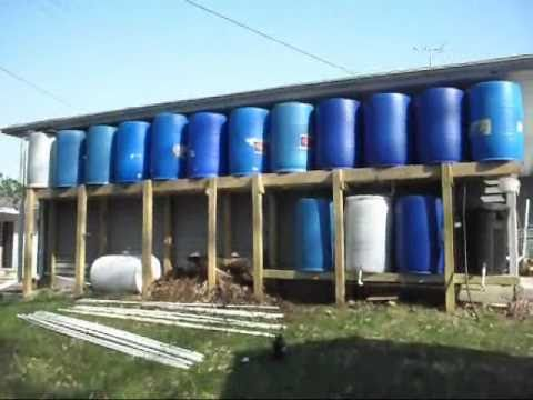 660 Gallon Rain Barrel Amp Compost Tea System Youtube