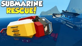 SINKING SHIP SUBMARINE RESCUE! - Stormworks: Build and Rescue Multiplayer Gameplay - Ship Survival