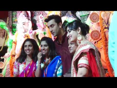 Ranbir Kapoor & Kajol At North Bombay Celebration Durga Puja
