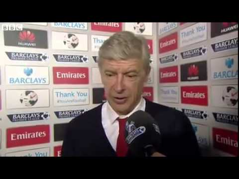 Arsene Wenger Arsenal 2 Swansea 2 - Post Match Interview