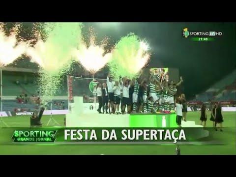 Benfica - 0 x Sporting - 1 de 2015/2016 Supertaça - Festa - Sporting TV