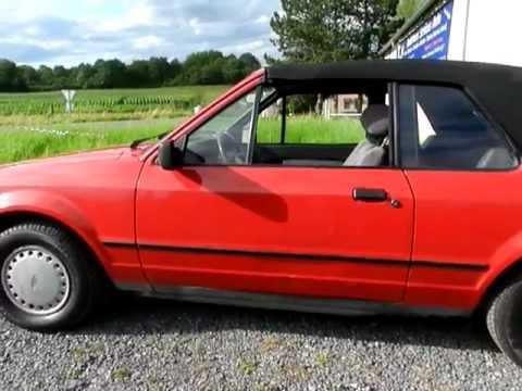 ford escort 1 3 cabriolet 1985 youtube. Black Bedroom Furniture Sets. Home Design Ideas