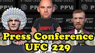 Khabib Nurmagomedov VS Conor McGregor UFC 229 press conference