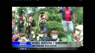 Minga Indígena y Gobierno retoman diálogos