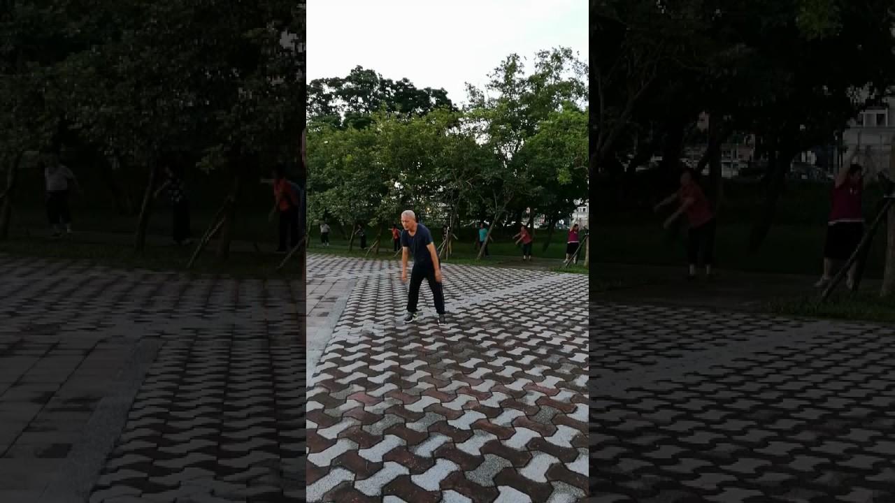 龍岡萬坪公園氣功晨操 - YouTube