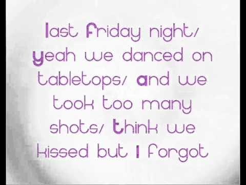 Lyrics for Last Friday Night (T.G.I.F.) by Katy Perry ...