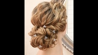Wedding hairstyling video - romantic lowdo