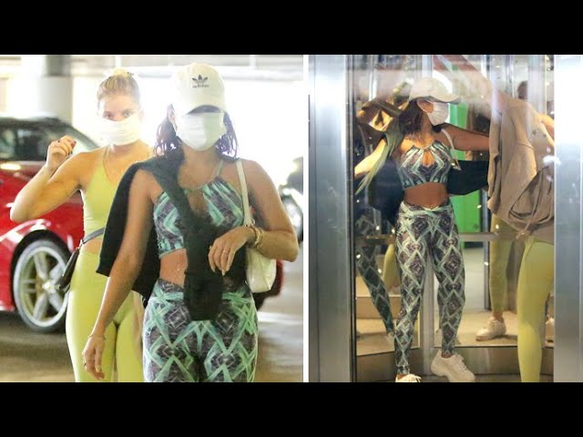 Vanessa Hudgens Busts A Move While Singing Christmas Music At The Beverly Center