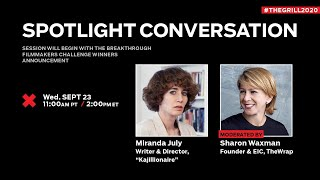 TheGrill  Spotlight Conversation with Miranda July presented by TheWrap