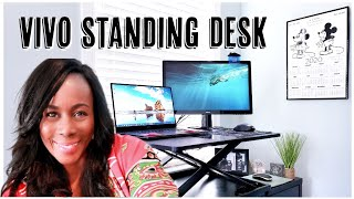 AFFORDABLE VIVO Adjustable STANDING DESK while working from home | UNBOXING & SETUP | ISOWA GALLERY