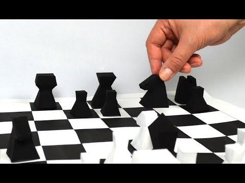 DIY Как Сделать Шахматы из Бумаги Своими Руками