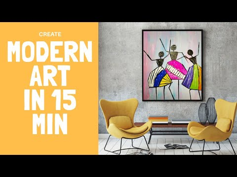 EASY MODERN ART FOR BEGINNERS | Easy Abstract Painting for beginners
