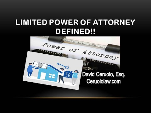 So what is a limited power of attorney?