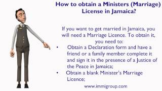 How to obtain a Ministers Marriage License in Jamaica?