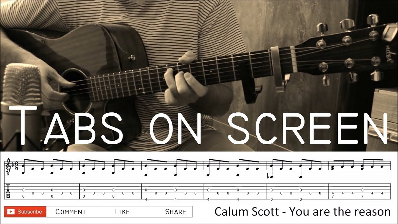 Calum Scott You Are The Reason Fingerstyle Guitar Cover With