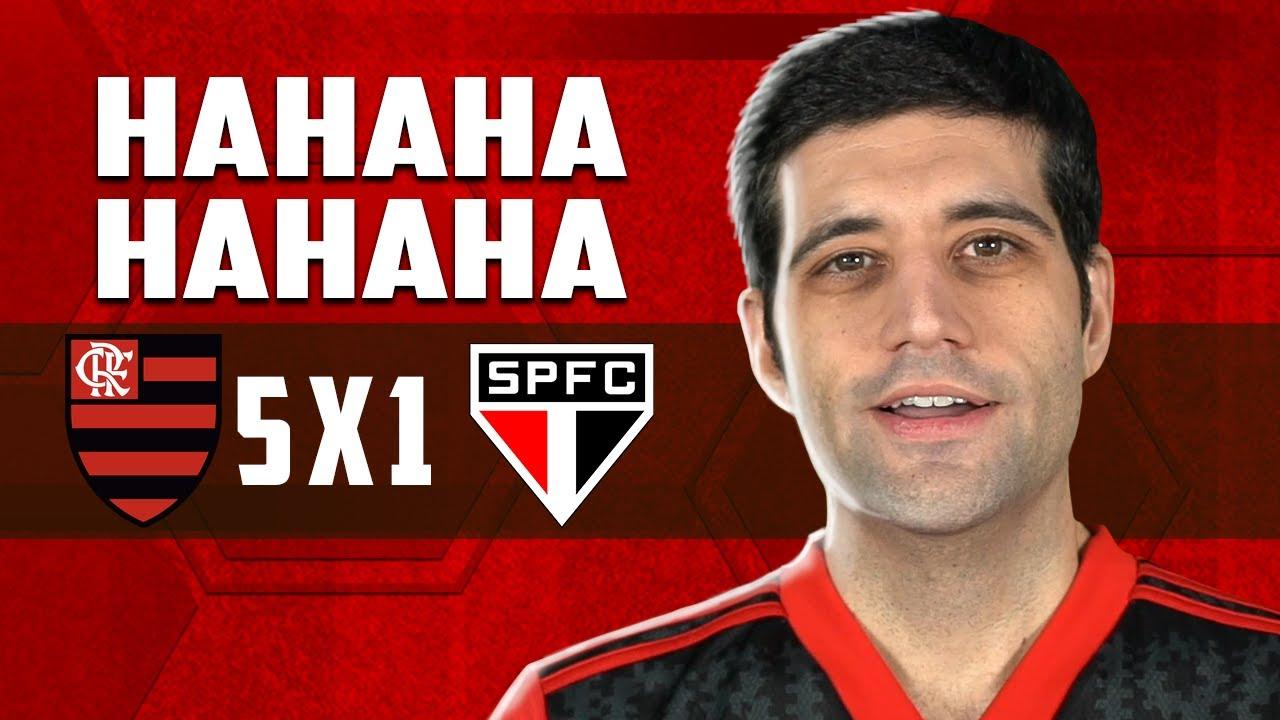 Flamengo 5 x 1 São Paulo... Hahahahahahahahahahahahahahahahahahahahahahahahahahahahah FIM DO TABU