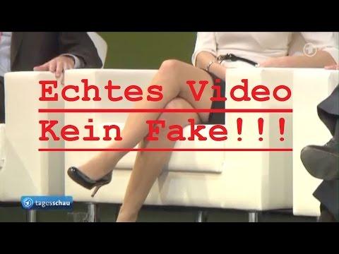 ---Original--- FDP-Politikerin Katja Suding: Tagesschau zeigt Beine in HD