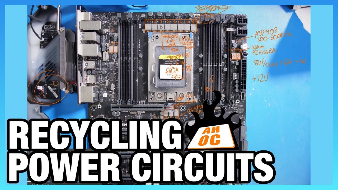 Recycled Vrm Designs Asus X399 Zenith Extreme Pcb Youtube Though It Is Possible To Perform Computer Circuit Board Recycling At
