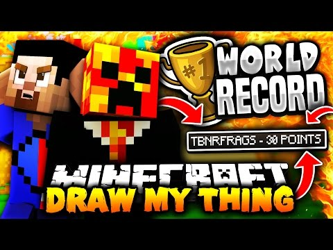 DRAW MY THING WORLD RECORD! | Minecraft