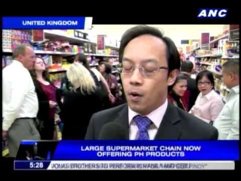 UK supermarket chain now offering Pinoy products