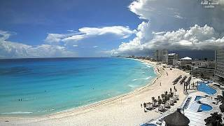 Cumulonimbus, heavy rain and shelf clouds visible from Cancún, Mexico (time-lapse) - Oct 02, 2012