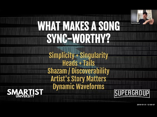 What Makes A Song Sync-worthy? (David Hayman of Supergroup)