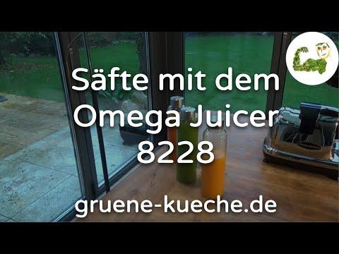 Omega Juicer 8228 - Entsaften von Möhren, Kurkuma und Ingwer (Teil 3/4)