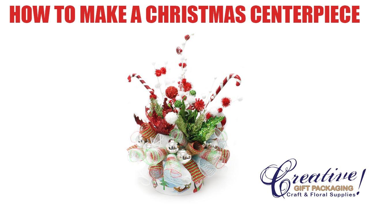 Candy Cane Christmas Centerpiece - YouTube