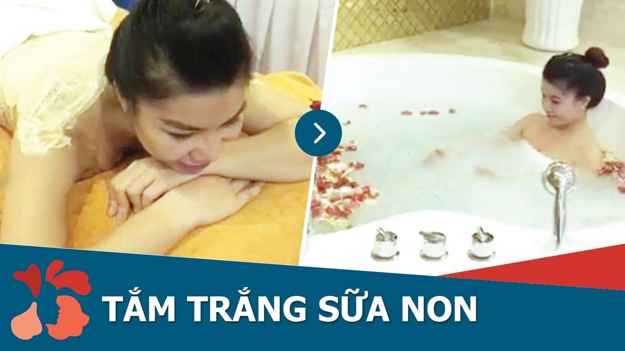 Tắm trắng bằng sữa non và tinh chất vàng NANO tại Kangnam - YouTube