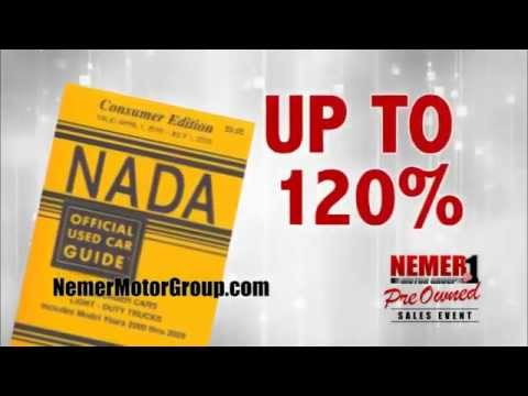 Nemer Pre-owned Sales Event   up to 120% For Your Trade   Upgrade Today!